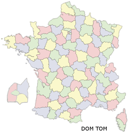 Carte de france - départements - module prestashop