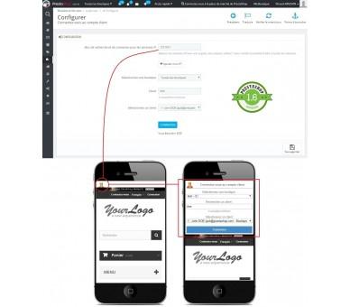 Connexion au compte client sans mot de passe