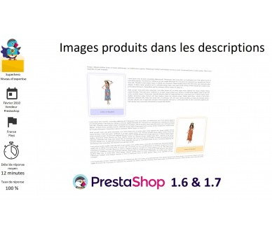 Product images in descriptions
