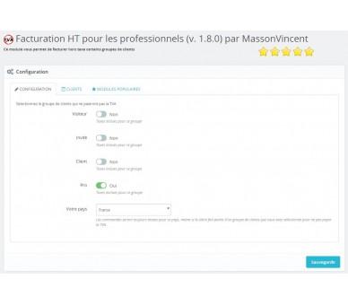 Fatturazione HT (senza IVA) per professionisti (1.6 e 1.7) + SuperUser
