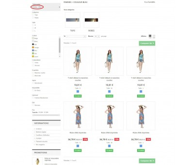 Mostrar variaciones como productos